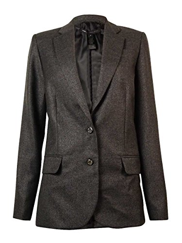 Marc by Marc Jacobs Women's 'Sparkle Suiting' Blazer (6, Charcoal Melange Multi) (Marc Jacobs Charcoal)