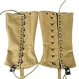 OLEADER Replica WW2 U.S. M1936 Dismounted Leggings, Boot Gaiters, Soldier Canvas Puttee Khaki