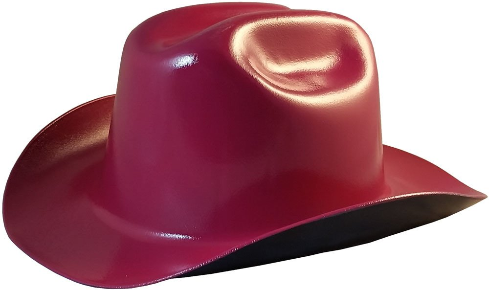 Amazon.com  Western Cowboy Hard Hat with Ratchet Suspension - Raspberry   Home Improvement a17dba2a8ef