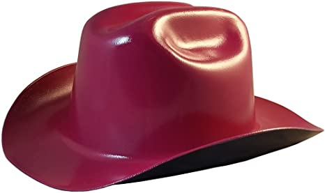 aeec4da62bb11 Western Cowboy Hard Hat with Ratchet Suspension - Raspberry