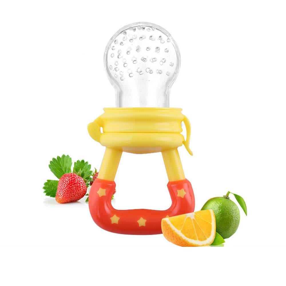 Ogquaton 2 UNIDS Alimento Fresco Alimentador de Leche de Fruta Suave Mordida Pezón Chupete Herramienta de Alimentación Segura Alimentador Infantil ...