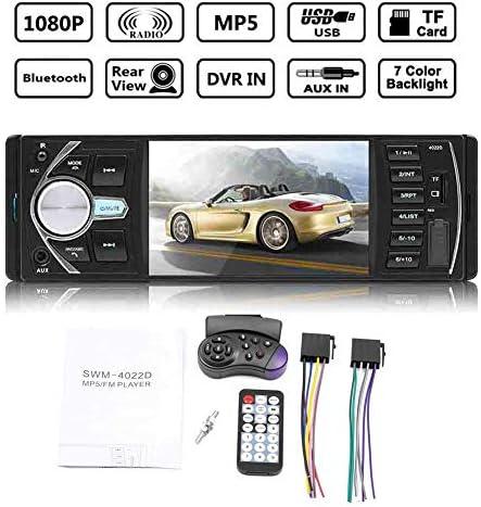 CHENG-STORE 4.1インチ ダブル1 Din、カーラジオ、オーディオステレオFMラジオ、Bluetooth MP3プレーヤー、接続可能なリアビューカメラ