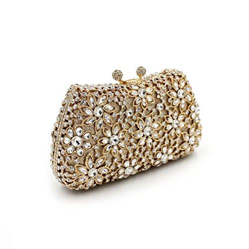 WYB Luxus-Kristall-Diamant-Blume / Abendtasche / Brautbeutel / Europa und Amerika über Bohr-High-End-Bankett Tasche / Handhandtasche