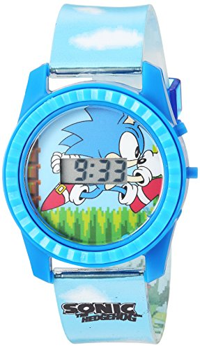Sonic the Hedgehog Kids' SNC4003 Digital Display Quartz Blue Watch -