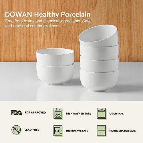 DOWAN 10-Ounce Porcelain Bowl Set - 6 Packs,White by DOWAN (Image #2)