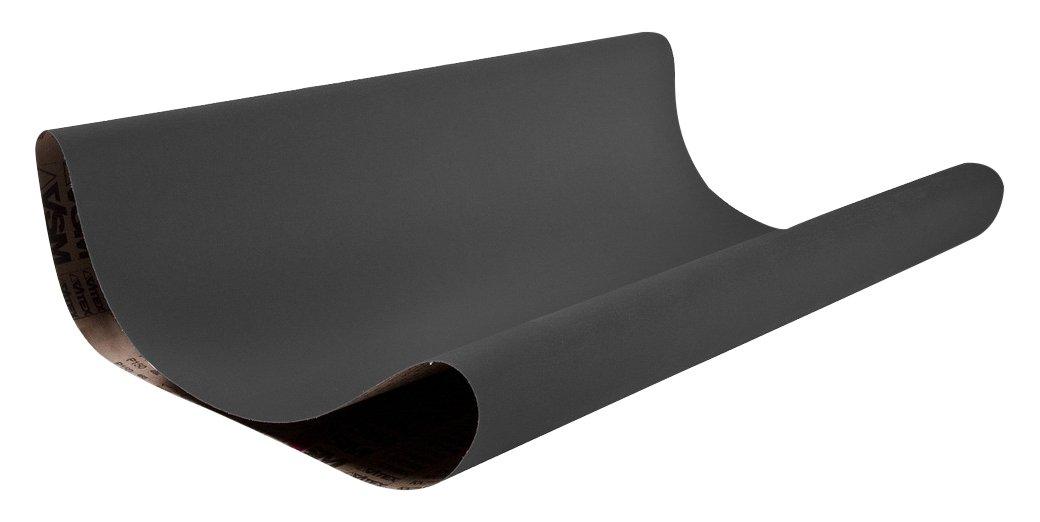 VSM 64683 Abrasive Belt, Medium Grade, Cloth Backing, Silicon Carbide, 120 Grit, 52'' Width, 75'' Length, Black (Pack of 2)