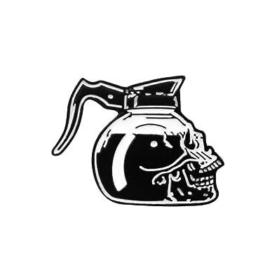 Skeleton Punk Broche Rosa Cráneo Café Olla Pizza Moco ...
