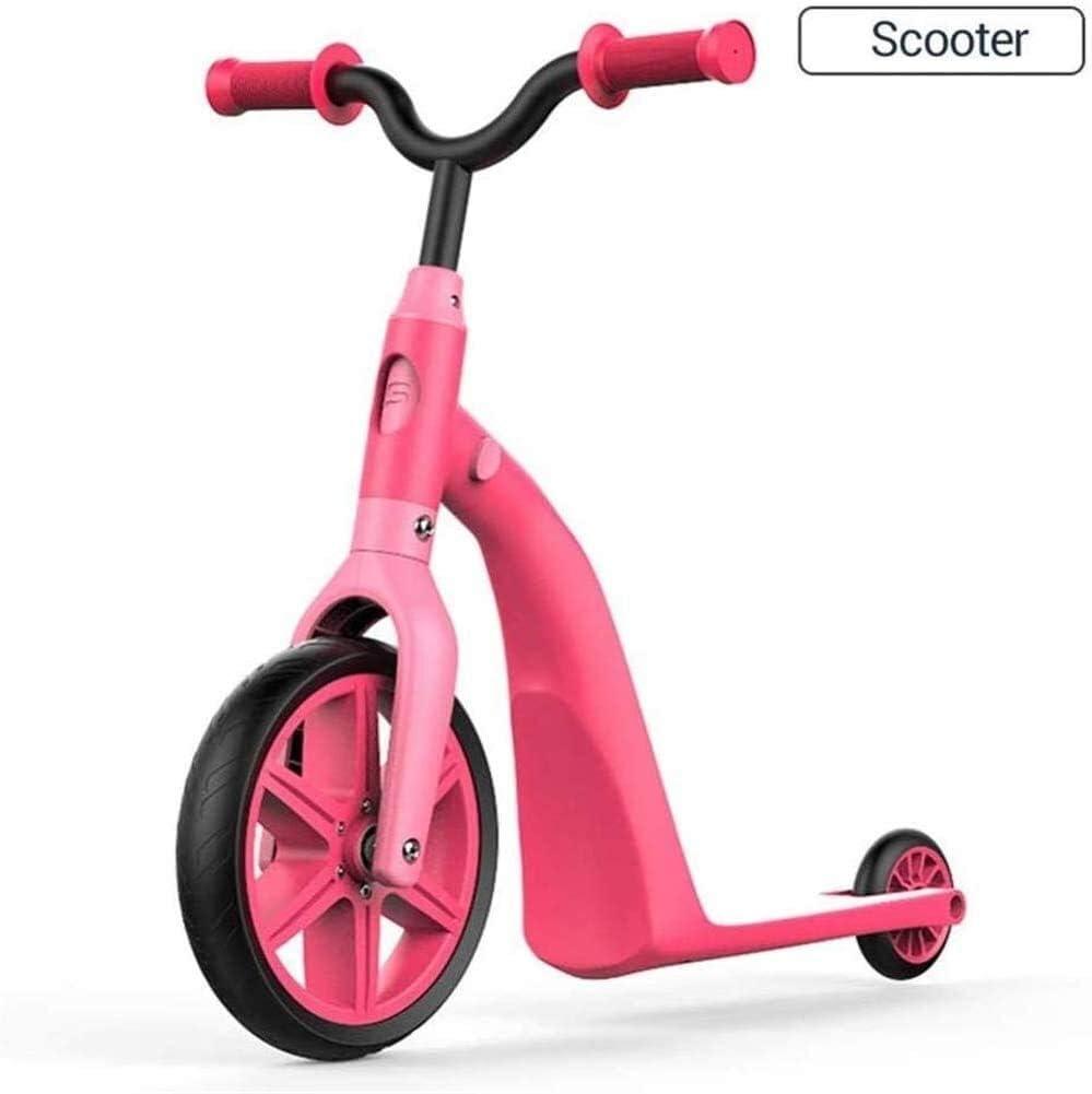 Linashop Regalo de múltiples Funciones Cuatro en Uno Vespa de los niños Equilibrio Bicicleta Triciclo Bicicletas Conveniente for los Regalos de 2-5 años Cumpleaños (Color : A)