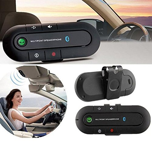 XBOSS PAL Bluetooth Visor Speakerphone Car kit Wireless Handsfree Speaker Can connect 2 phone same time Universal for Any Car - Black by XBOSS (Image #2)