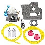 HIPA 545081848 C1Q-W40A Carburetor with Gasket Fuel Line Filter for Husqvarna 128c 128cd 128l 128ld 128ldx 128r Trimmer Edger