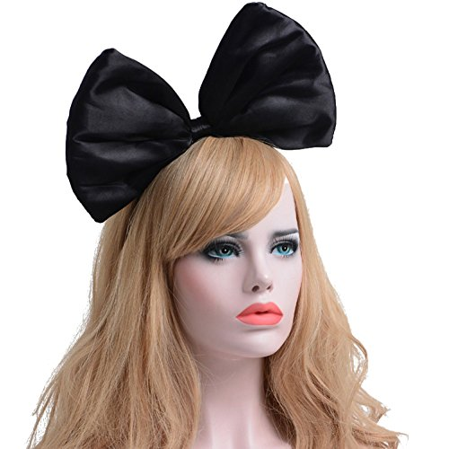 Big Hair Band Costumes (ZTL Women Huge Bow Headband Hairband Hair Hoop Costume Accessories Party Props)