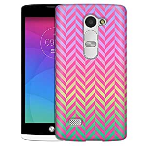 LG Tribute 2 Case, Slim Fit Snap On Cover by Trek Rainbow on Chevron Mini Pink Case