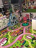 Mybecca Kids Rug 5' x 7' Colourful Fun Land Theme