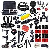 Action Camera Accessories Kit for GoPro Hero 7 6 5 4 3+ 3 2 1 Hero Session 5 Black Accessory Bundle Set for Yi AKASO Apeman SJ4000 DBPOWER AKASO WiMiUS Rollei QUMOX Campark Action Camera Accessory