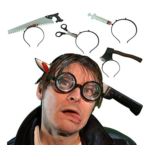 Halloween Costume Props (Chichic 4PCS Knife Through Head Costume for Best Halloween Props, Party Accessory, Halloween Decoration)