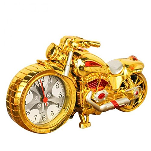 Creative Motorcycle Motorbike Pattern Alarm Clock Desk Clock Creative Home Birthday Gift Cool Clock (Wheel Type was - Edition Ferrari Oakley Special