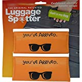 Luggage Spotter Buy ONE GET ONE Free (Orange) You've Arrived Luggage Locator/Handle Grip/Luggage Grip/Travel Bag Tag/Luggage Handle Wrap (4 Pack) – Great Gift!