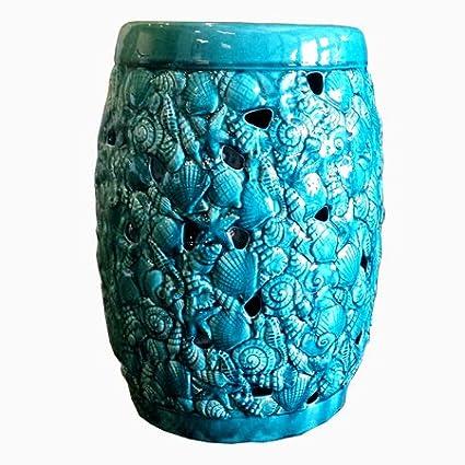 Superbe Tea Sealife Ceramic Garden Stool