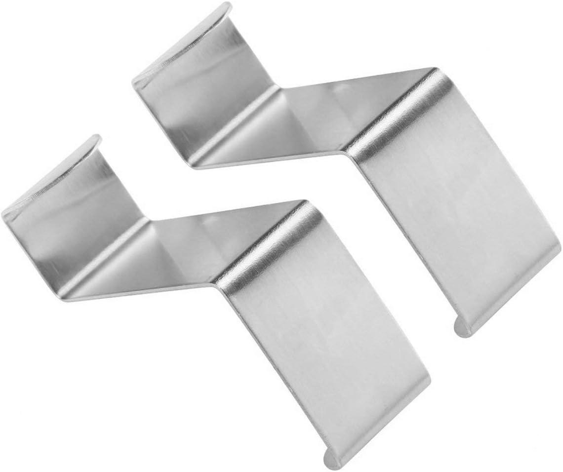 2 Pezzi in Acciaio Inox Armadio da Cucina Ganci di tiraggio Armadio da Cucina disegnare Asciugamani Asciugamano Porta Abiti Appendiabiti Pothook Argento