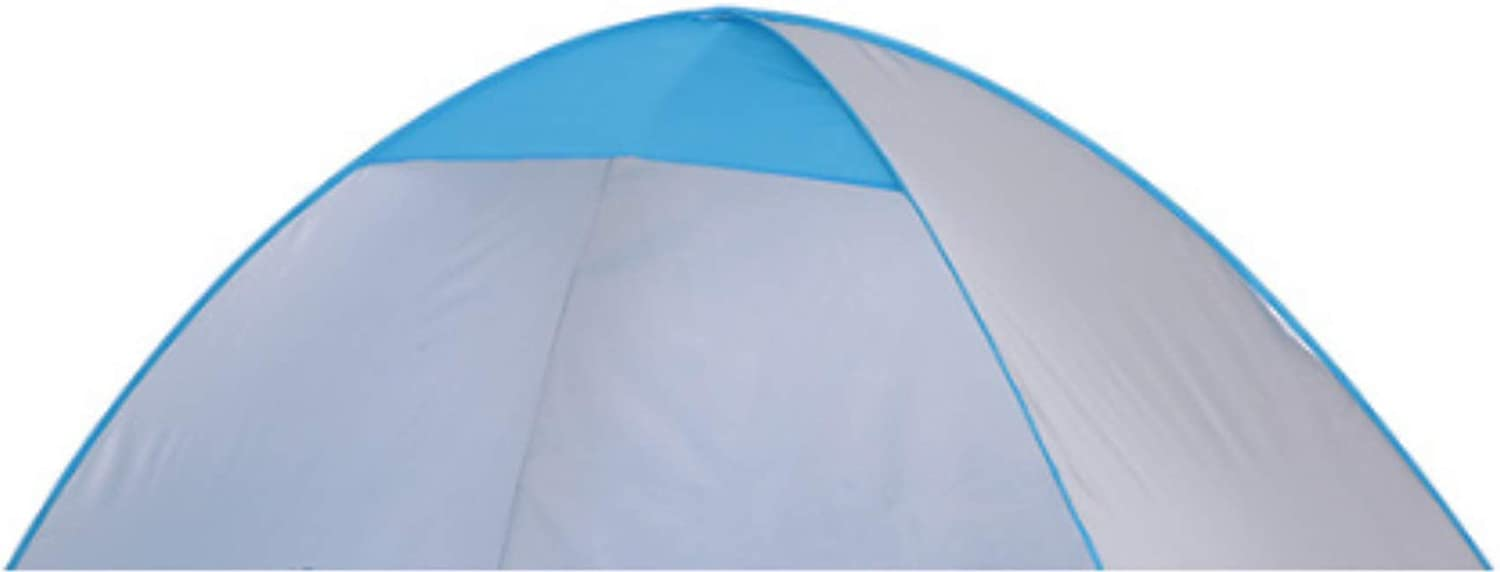 DYGZS Tent Automatic Beach Tent 2 Persons Camping Tent UV Protection Shelter Outdoor Tent Instant Pop-up Summer Tent 200 * 120 * 130cm Silver