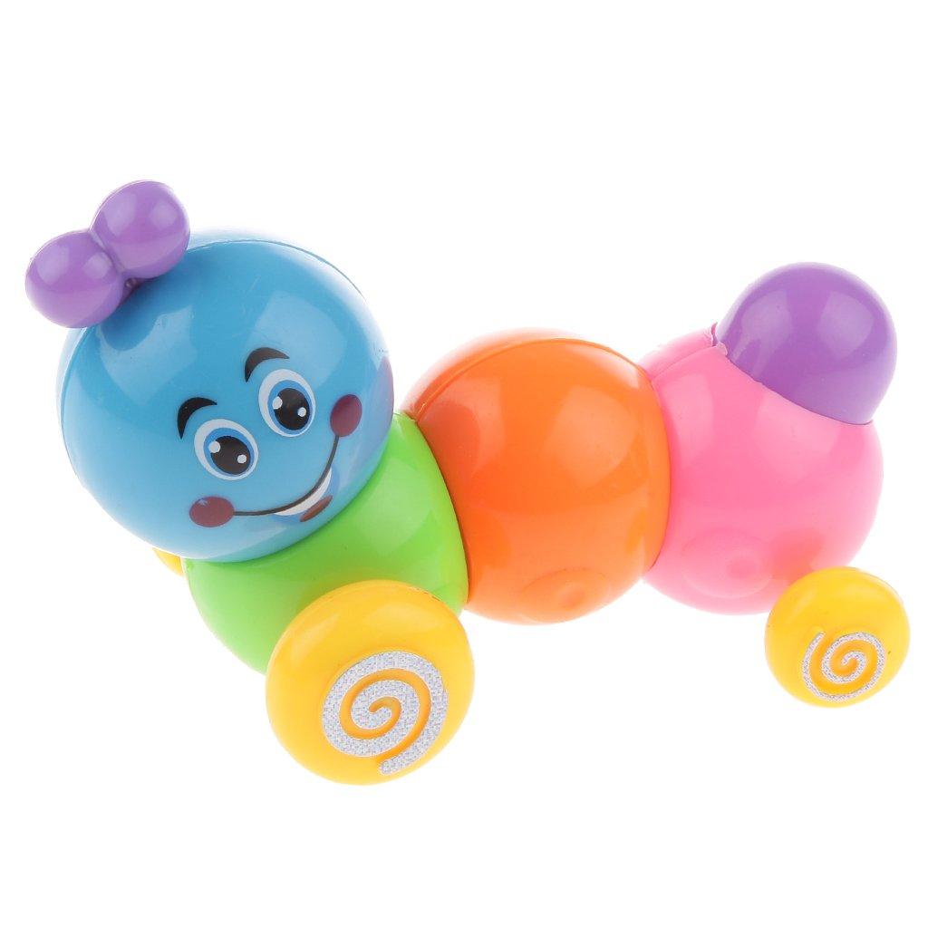 MagiDeal Aufziehen Uhrwerk Spielzeug - Mini-Regenbogen Raupe - 10 x 5,5 cm Wind Up Toy Kinder Geschenke