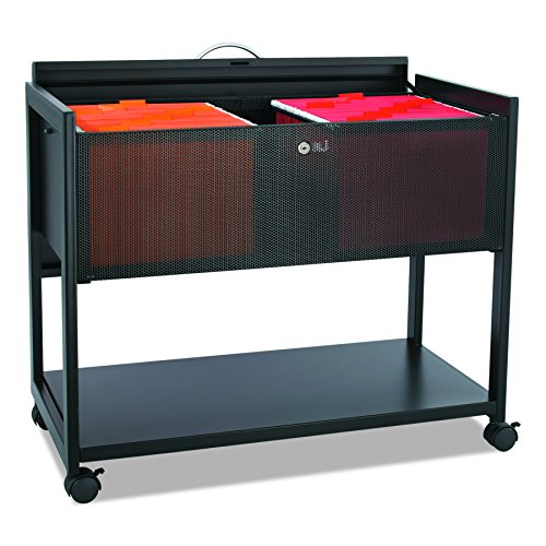 Top File Mobile (Safco Products 5353BL Steel Mobile File with Locking Top, Letter Size, Black)