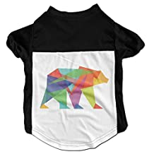 Richard Lyons Fashion Sleeveless Pet Supplies Dog Cat Clothes Geometric Bear Pet Apparel Clothing L Black