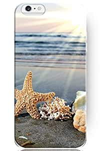 SPRAWL New Classic Charming Design Personalized Hard Plastic Snap on Slim Fit Starfish and Shells under Sunlight 5.5 Inch Iphone 6 plus Case Ocean Waves
