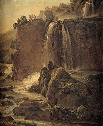 The High Quality Polyster Canvas Of Oil Painting 'Simon Denis,Waterfall In Tivoli,1755-1813' ,size: 24x29 Inch / 61x75 Cm ,this Cheap But High Quality Art Decorative Art Decorative Prints On Canvas (Chewbacca Utility Belt Costume)