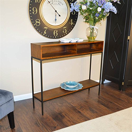 Carolina Cottage Chestnut Finish - Carolina Cottage Edvin Console Table in Chestnut Finish