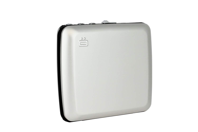 Ögon CW-Silver Caja Fuerte de Bolsillo Code Wallet Aluminio Anodizado Plateado
