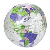 """US Toy - Inflatable Clear Globe Beach Ball, Size 11"""", Made of Vinyl"""