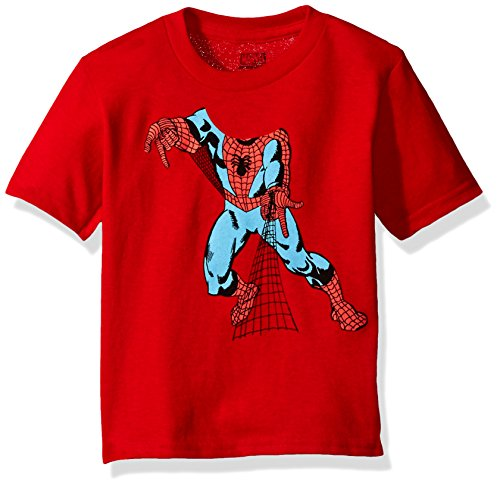 Marvel Toddler Boys' Spider-Man Short Sleeve T-Shirt, Red, 3T