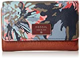 Fossil Dawson Multifunction Wallet, Blue Floral, One Size