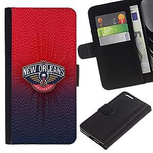 """JackGot ( Nueva Orlean Pelican"""" ) Apple (5.5 inches!!!) iPhone 6+ Plus / 6S+ Plus la tarjeta de Crédito Slots PU Funda de cuero Monedero caso cubierta de piel"""