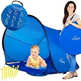 Campela Baby Beach Tent UV (with Pool) - Pop Up Sun Shelter UV Protection Beach Shade for Toddler