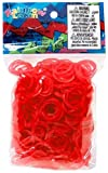 Official Rainbow Loom 1200 Ct. Rubber Band Refill Pack *JELLY* RED [Includes 50 C-Clips!]