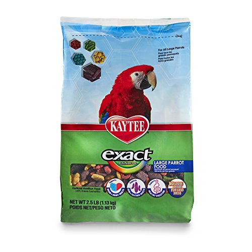 - Kaytee Exact Rainbow Bird Food for Large Parrots, 2.5 lb