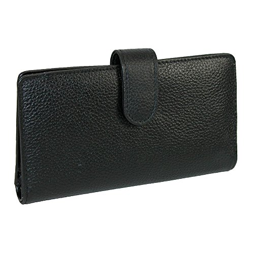 Buxton Hudson Pik-Me-Up Checkbook Keeper (Black) by Buxton