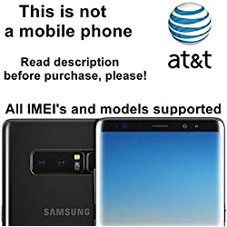 AT&T USA Unlocking Service for Samsung Galaxy S8, S8+, S7, S7 Edge, Note 5, 7, 8 and Other Models - Make Your Device More Useful Than Before - No Re-lock Lifetime Guarantee