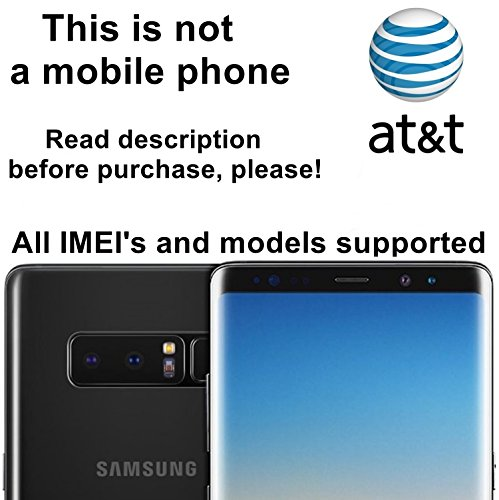 AT&T USA Unlocking Service for Samsung Galaxy S8, S8+, S7, S7 Edge, Note 5, 7, 8 and Other Models - Make Your Device More Useful Than Before - No Re-lock - More Cover Sim