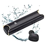 Wireless Earbuds, HiOrange TWS Bluetooth V4.2 Headset, IPX7 Waterproof Mini Twins Headphone Built-in Mic, Charging Carrying Case, Noise Cancelling, Sweat-Proof for iPhone and Android Devices (Black)