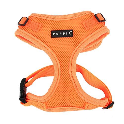 Puppia Authentic Neon Soft Harness II, Medium, Orange
