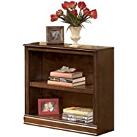 Ashley Furniture Signature Design - Hamlyn Bookcase - Short Open Cabinet - Medium Brown