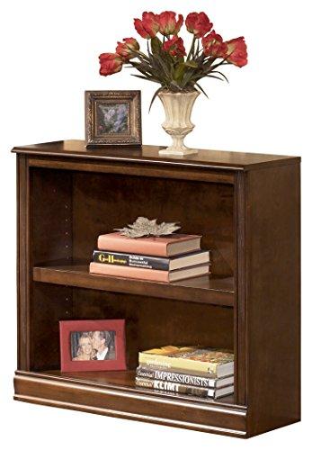 - Ashley Furniture Signature Design - Hamlyn Small Bookcase - 1 Adjustable Shelf - Traditional - Medium Brown Finish