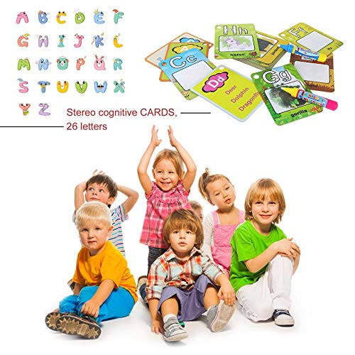 Cognitive Cards 26 Letters Water Painting Graffiti Card Colouring Book