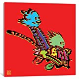 """iCanvasART Calvin & Hobbes Gallery Wrapped Canvas Art Print by TECHNODROME1, 37"""" x 0.75"""" x 37"""""""