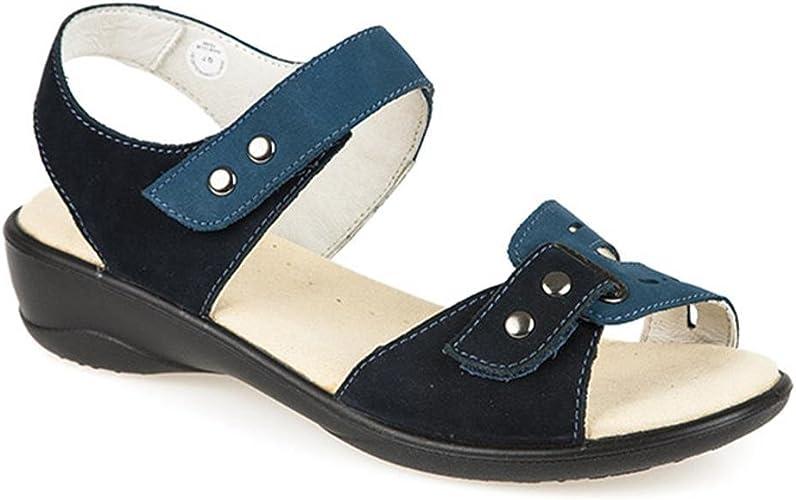 Pavers Ladies Leather Wide Fit Sandal