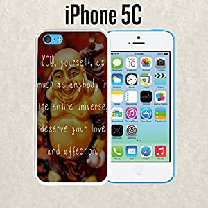 iPhone Case Buddha Love Inspiration Quote for iPhone 5c Rubber White (Ships from CA)