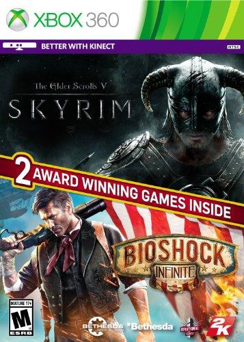 The Elder Scrolls: V Skyrim / Bioshock Infinite - Xbox 360 (Skyrim Xbox 360 Console)